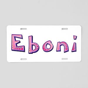 Eboni Pink Giraffe Aluminum License Plate
