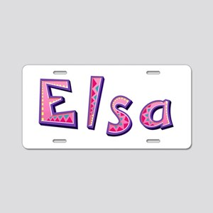 Elsa Pink Giraffe Aluminum License Plate