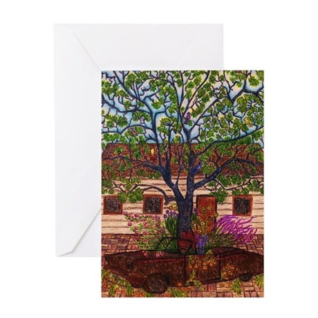 Girdners Tree Car Greeting Cards