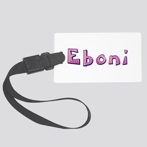Eboni Pink Giraffe Large Luggage Tag