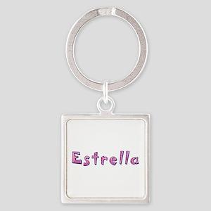 Estrella Pink Giraffe Square Keychain