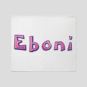 Eboni Pink Giraffe Throw Blanket