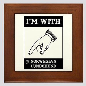 With the Lundehund Framed Tile