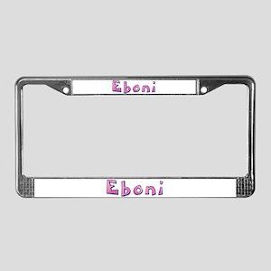 Eboni Pink Giraffe License Plate Frame