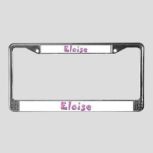 Eloise Pink Giraffe License Plate Frame