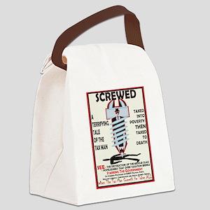 Hate Tax Man Canvas Lunch Bag