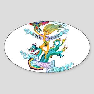 WILD WOMAN - LOVE YOURSELF FREE Sticker