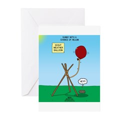 scout weather Greeting Cards (Pk of 20)