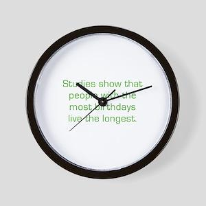 Most Birthdays Wall Clock