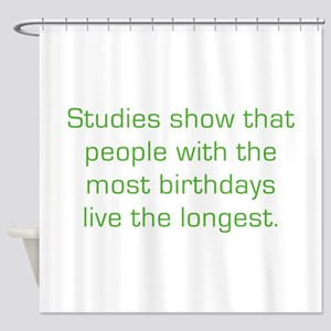 Most Birthdays Shower Curtain