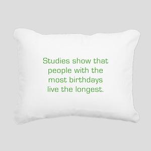 Most Birthdays Rectangular Canvas Pillow