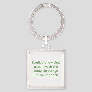 Most Birthdays Square Keychain