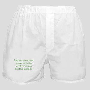 Most Birthdays Boxer Shorts