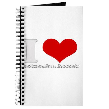 i love heart indonesian accen Journal
