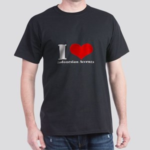 i love heart accents Dark T-Shirt