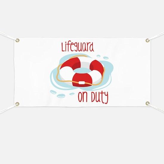 Lifeguard On Duty Banner