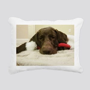 Chocolate Lab Christmas  Rectangular Canvas Pillow