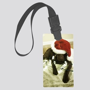 Chrocolate Lab Christmas 3 Large Luggage Tag