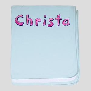 Christa Pink Giraffe baby blanket
