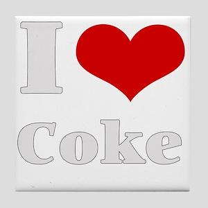 i love (heart) coke Tile Coaster