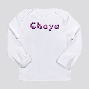 Chaya Pink Giraffe Long Sleeve T-Shirt