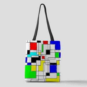 Random Squares Homage To Mondri Polyester Tote Bag