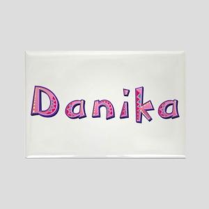 Danika Pink Giraffe Rectangle Magnet