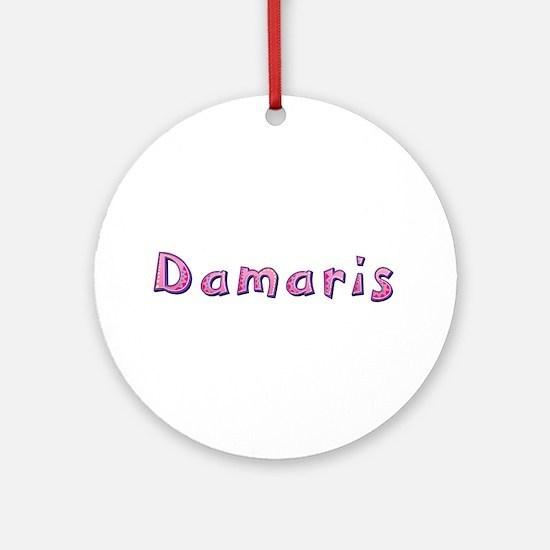 Damaris Pink Giraffe Round Ornament