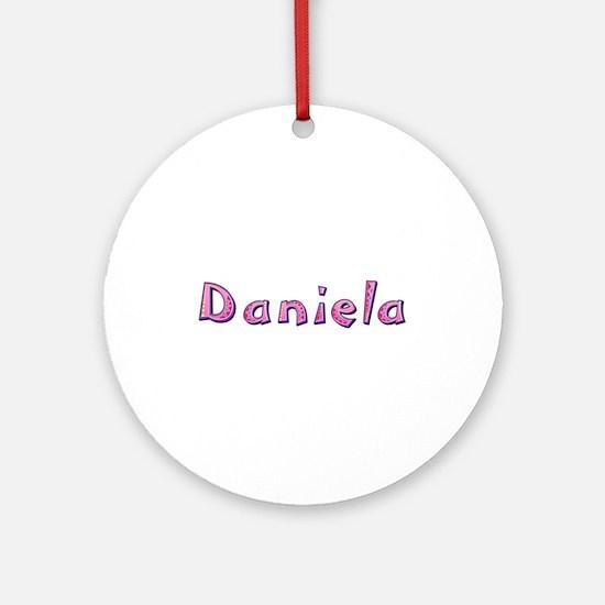 Daniela Pink Giraffe Round Ornament