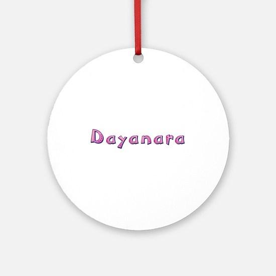 Dayanara Pink Giraffe Round Ornament