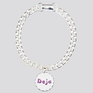 Deja Pink Giraffe Charm Bracelet