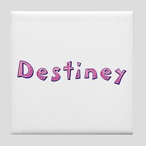 Destiney Pink Giraffe Tile Coaster
