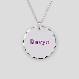 Devyn Pink Giraffe Necklace Circle Charm