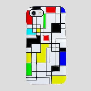 Random Squares Homage To Mondr iPhone 7 Tough Case