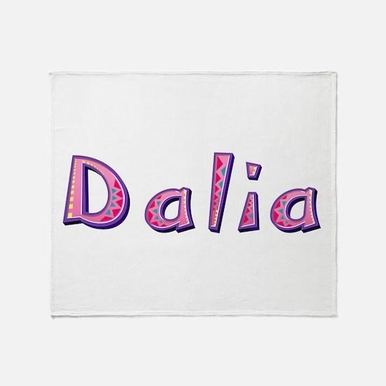 Dalia Pink Giraffe Throw Blanket