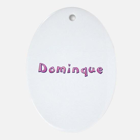 Dominque Pink Giraffe Oval Ornament