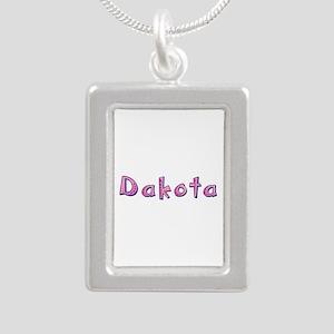 Dakota Pink Giraffe Silver Portrait Necklace