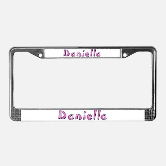 Daniella Pink Giraffe License Plate Frame