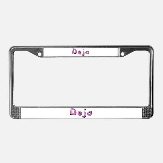 Deja Pink Giraffe License Plate Frame