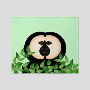 Saki Monkey Throw Blanket