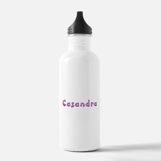 Casandra Pink Giraffe Water Bottle