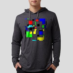 Random Squares Homage To Mondr Long Sleeve T-Shirt