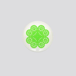 Shamrock of Infinite Peace and Love 01 Mini Button