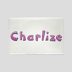 Charlize Pink Giraffe Rectangle Magnet
