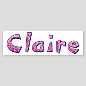 Claire Pink Giraffe Bumper Sticker