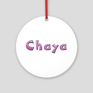 Chaya Pink Giraffe Round Ornament