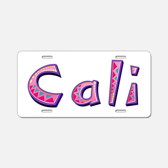 Cali Pink Giraffe Aluminum License Plate