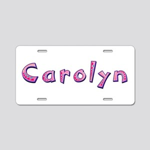 Carolyn Pink Giraffe Aluminum License Plate