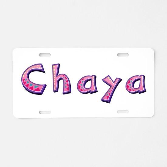 Chaya Pink Giraffe Aluminum License Plate
