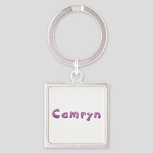 Camryn Pink Giraffe Square Keychain